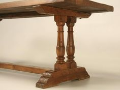 Antique French Farm Table found in a French Monastery  | From a unique collection of antique and modern dining room tables at https://www.1stdibs.com/furniture/tables/dining-room-tables/