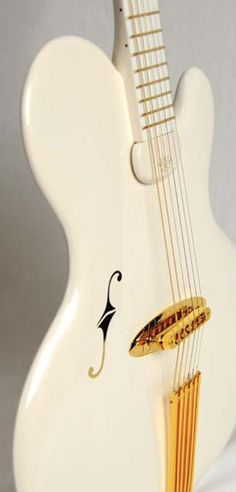 German master bass luthier Jens Ritter's first electric guitar, the Princess Isabella baritone jazz solidbody.