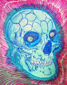 Lüthårt   #Skull Series No. 30   @LuthaMiller   #Skulls #Art #SurfArt #Ink #Surfing #Calaveras #Muerte