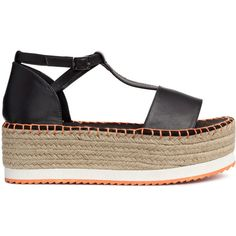 Platåsandaler 199 (41,660 KRW) ❤ liked on Polyvore featuring shoes, sandals, heels, h&m sandals and h&m shoes