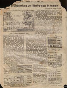 """Oktober 1941 """"Entschandelung des Marktplatzes in Cammin in Pommern""""-Entschandelung=Abstuckung Es ist die Beseitigung von Stuckdekorationen an Gebaeuden."""