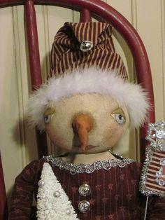 Sweetpeas Primitives: NEW Snowman Girl on Ebay