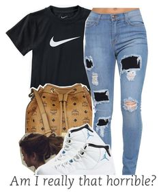 """what is ant-man? thas not even cool, like fr"" by sunnyhere7111 ❤ liked on Polyvore featuring NIKE and MCM"