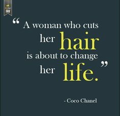 We just love this Chanel #hair quote!