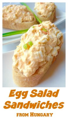 Hungarian egg salad sandwiches, Tojáskrém recipe. If you are a big egg salad fan, you will love this recipe. A little sour cream for moisture, onions for crunch. Quick, simple and delicious.