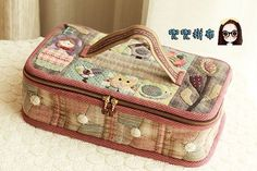 Patchwork Designs, Patchwork Bags, Quilted Bag, Japanese Patchwork, Japanese Bag, Sewing Box, Love Sewing, Patch Quilt, Applique Quilts