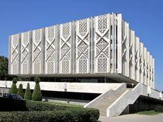 State Museum of History of Uzbekistan : brutalism Hospital Architecture, Mosque Architecture, Sacred Architecture, Modern Architecture, Arch Building, Building Skin, Building Facade, Villa Design, Facade Design