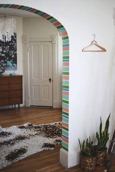 washi tape entryway