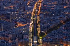 Paris from the top of Montparnasse Tower.
