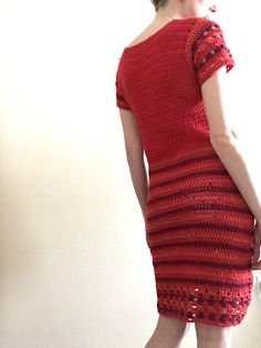 Red crochet dress by TessaPerlowInc on Etsy