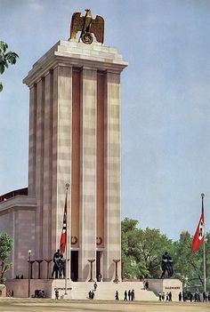 1937:  Nazi Germany exhibit at World's Fair, Paris