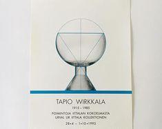 Collectable/ original vintage Tapio Wirkkala exhibition poster 28.4-1.10.1995, made in Finland