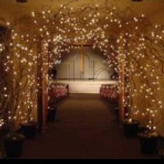 """Entrance to reception idea. Right before """"through the rabbit hole""""!"""
