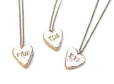 Fair trade eco silver sweet hearts @ www.nadinekieft.com