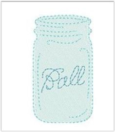 Ball Mason Jar Template With Lettering Use This To Create Your Favorite String Art Yarn Twine Or Embroidery Thread