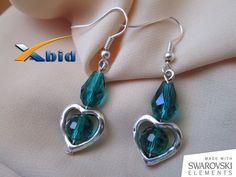 Swarovski Earrings With Green Swarovski Crystals Emerald by xabid, $22.00