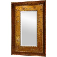 Hand-crafted in China, the mirror is framed with a gold leaf chinoiserie design. .  $249.  Overstock.