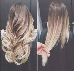Wondering if I should try ombre on my hair since my dark roots show anyway lol