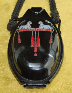 Egyptian Celluloid Figural Vanity Purse 1920's Bag