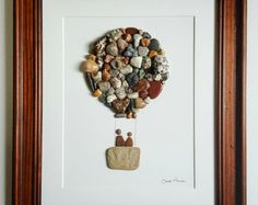 Let's fly away… x Made using rocks collected from the shores of Lake Michigan and Lake Likes, 2 Comments – Sarah Hillman (I want to do a large picture of designs with rocks or shells both from all places we have travelled. Pebble Stone, Pebble Art, Stone Art, Pebble Mosaic, Stone Crafts, Rock Crafts, Diy Crafts, Pebble Pictures, Stone Pictures