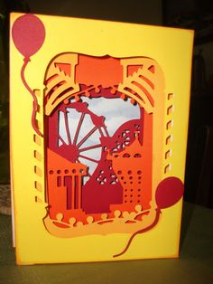 Another Die from docrafts. Build a scene - Circus