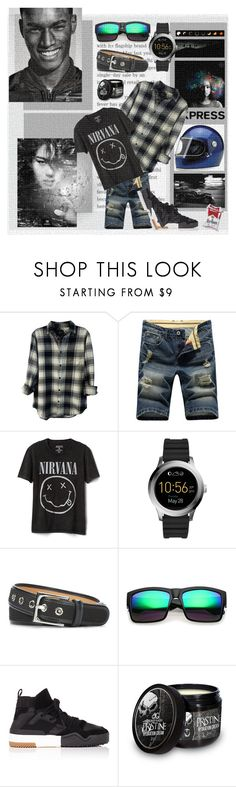 """Smells Like Teen Spirit"" by lablanchenoire ❤ liked on Polyvore featuring Rails, Gap, Alexander McQueen, FOSSIL, Donald J Pliner, men's fashion and menswear"