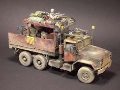 "US M923 ""Gypsy-Caravan"" Armoured-Guntruck. Armament: cabin/pintle-ring M2HB; rear/bed: 3xM240 7.62mm MGs."