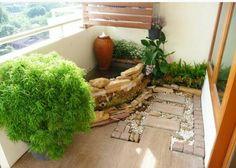 Mini waterfall balcony