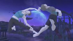 Wii Fit Trainer [Female] & Wii Fit Trainer [Male] Nintendo Super Smash Bros, Wii Fit, Trainers, Fan Art, Memes, Fitness, Paradise, Female, Retro Video Games