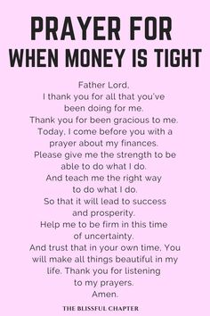 Prayer For Financial Breakthrough - The Blissful Chapter - Finance tips, saving money, budgeting planner Prayer Scriptures, Bible Prayers, Faith Prayer, God Prayer, Prayer Quotes, Power Of Prayer, Spiritual Quotes, Prayer Room, Wisdom Quotes