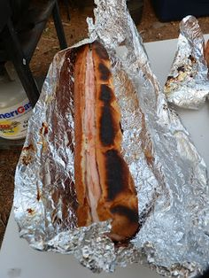 Camping Meal Idea:  Sub Sandwiches on the fire!  Wrap in tinfoil and throw on the grill. Yum!