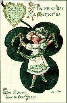 Vintage St. Patrick's Day Postcard by Suzee Que, via Flickr