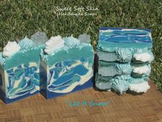 Let It Snow Soap Bars by SweetSoftSkin on Etsy