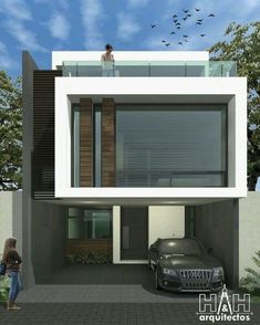 Best Garden Decorations Tips and Tricks You Need to Know - Modern Minimalist House Design, Minimalist Architecture, Modern House Design, Modern Exterior, Exterior Design, Residential Architecture, Architecture Design, Narrow House, House Front Design