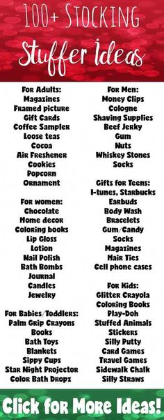 100+ Stocking Stuffers for Everyone on Your Gift List. Adults, women, men, teens, kids, babies & toddlers. More than 100 ideas! #cheapchristmasgiftsforfamily Christmas Stocking Stuffers, Diy Christmas Gifts, Winter Christmas, Christmas Holidays, Stocking Stuffers For Adults, Christmas Gift Ideas For Teens, Santa Gifts, Stocking Stuffers For Boyfriend, Toddler Stocking Stuffers