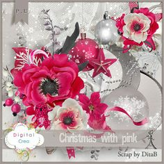 Christmas with pink (kit) by scrap by Ditab - Digitalcrea (guest december 2013)