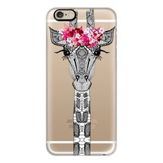 iPhone 6 Plus/6/5/5s/5c Case - FLOWER GIRL GIRAFFE CRYSTAL CLEAR case... ($40) ❤ liked on Polyvore