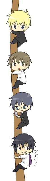 Yoshiki, Satoshi, Morishige, Yuuya