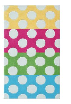 colorful, polka dot rug for a child's room!