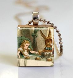 Alice In Wonderland Jewelry Mad Tea Party by MissingPiecesStudio, $7.95