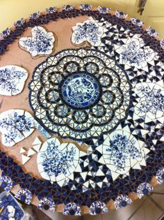 ORIGINAL PINNER - When she got to feeling better, we were going to take a mosaic class.....we were going to make a table first. I think I may still do it in her memory.