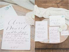 Image by Bowtie and Belle Calligraphy by By Moon and Tide  Styling by Wedding Creations UK