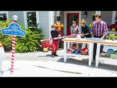 Mark Steines' DIY 'Northpole' Sign - YouTube