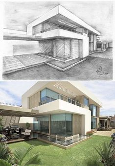 Modern House Architecture Sketch Modern Home Architecture Sketches
