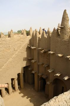 niger country | Village mosque, Niger River, Mali, Africa