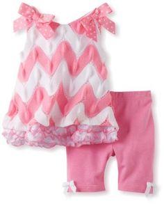 Bonnie Baby-Girls Newborn Flamestitch Legging Set, Pink, 6-9 Months Bonnie Baby. $25.20