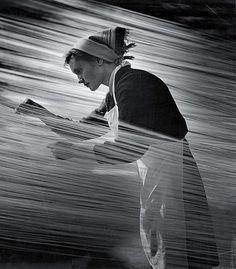 White apron | Black dress | Lines | Spinning | Weaving | Matorin Nikolai