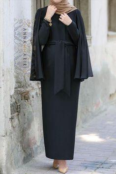 Cape Dress in Black