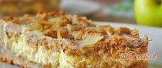 Recept Almás-túrós szelet liszt nélkül Kefir, Nutella, Baked Goods, Banana Bread, Macaroni And Cheese, French Toast, Food And Drink, Sweets, Breakfast