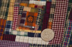 2-5, No. 5, Lickskillet Log Cabin Halloween Quilt, Illini Autumn Series. Scale view, Studio Juju Quilts.
